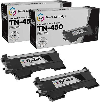 LD © 2pk for Brother TN450 HY Toner MFC-7365DN MFC-7360N MFC-7240 TN-450 TN 450