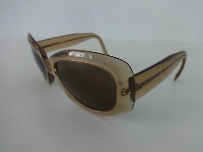 Cutler And Gross Sunglasses Vintage Womens Square Mid Stem Acetate Light Brown