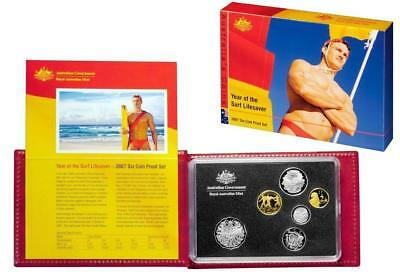 2007 Australia 6 Coin Proof Set, Year of the Surf Lifesaver