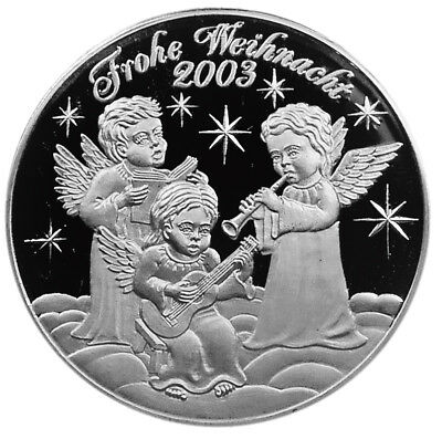 GERMANY 2003 Silver medal CHRISTMAS - ANGELS & NATIVITY SCENE + Cover w/stamp