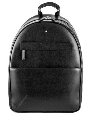 Montblanc Sartorial Dome Large Black Saffiano Leather Print Backpack 116754