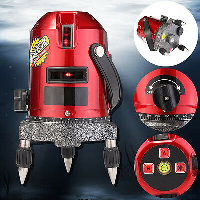 US Ship 5 Line 6 Point Automatic Self Leveling Rotary Laser Level Meter Measure