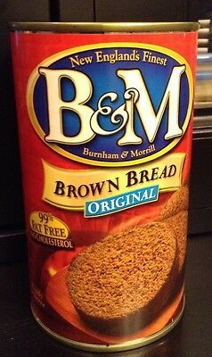 Case Of 6 B&M Original Canned Brown Bread New Englands Finest Burnham & Morrill