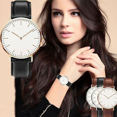 Fashion Women Lady Leather Band Analog Quartz Round Wrist Watch Watches R56