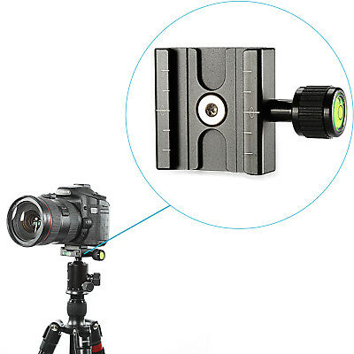 Neewer 50mm QR Clamp w/ Built-in Bubble Level Arca-Swiss Compatible for QR Plate
