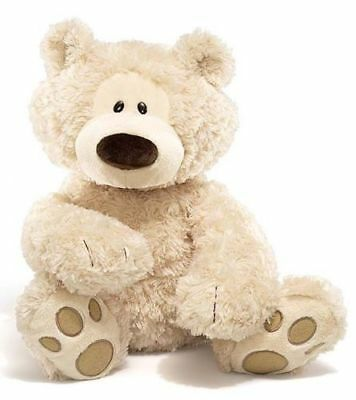 "Philbin Teddy Bear Beige large Gund stuffed animal 18""/46cm soft plush toy NEW"