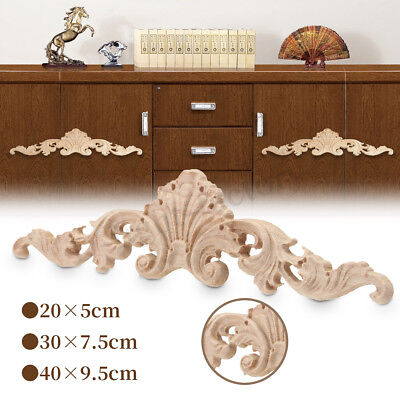 8/10x Unpainted Wood Oak Carved Corner Onlay Applique Furniture Mouldings Decal