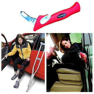 Glass Breaker Belt Cutter Car Door Handle Auto Portable Standing Aid Cane Red ZM