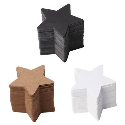 100Pcs Star Shape Blank Kraft Paper Card Hang Tag Label Christmas Wedding Crafts