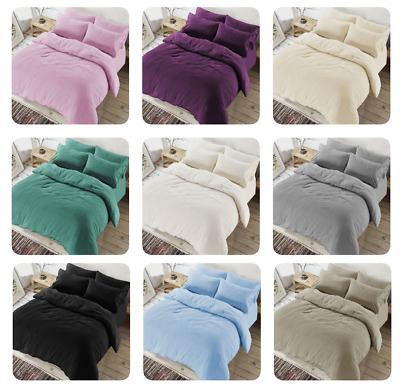 TEDDY BEAR Fleece Duvet Quilt Cover + PillowCase Warm & Cozy Bed Or Fitted Sheet