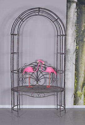 Rose Arch with Bank Growth Support pergola trellis bench country house style