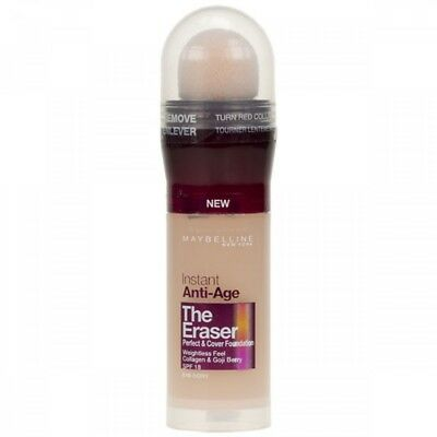 Maybelline New York The Eraser Instant Anti-Age Foundation New Sealed  020 Cameo