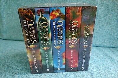 Heroes Of Olympus Complete Collection Rick Riordan 5 Books New Sealed Hero Son
