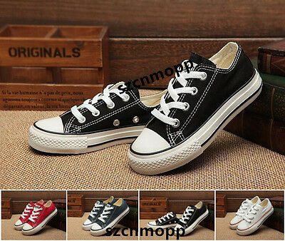 Boys Gilrs Chuck Taylor Ox Low High Top shoes casual Children's Canvas Sneakers