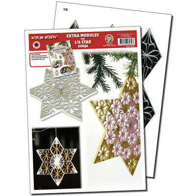 Quilling Template 1/6 Modul Star (ohne Pappe)