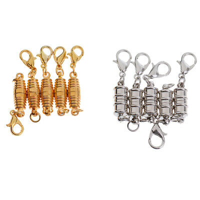 10Pcs Set Magnetic Clasps With Lobster Connector DIY Jewelry Making Findings