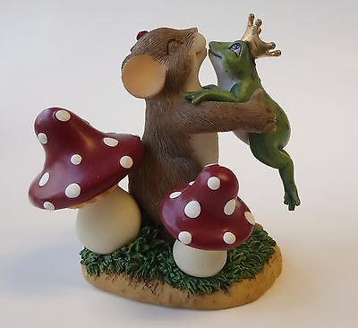 Fitz & Floyd CHARMING TAILS Mouse & Frog Figurine YOU'RE A PRINCE, I HOPE 84/127