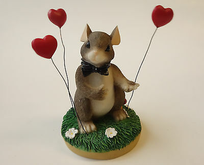 Fitz & Floyd CHARMING TAILS Mouse Figurine MY HEART'S ALL A-FLUTTER 82/101