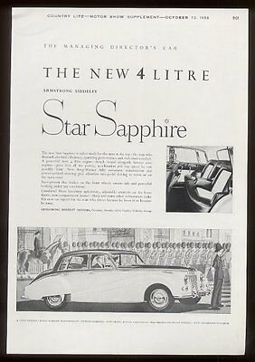 1959 Armstrong Siddeley Star Sapphire car vintage UK print ad