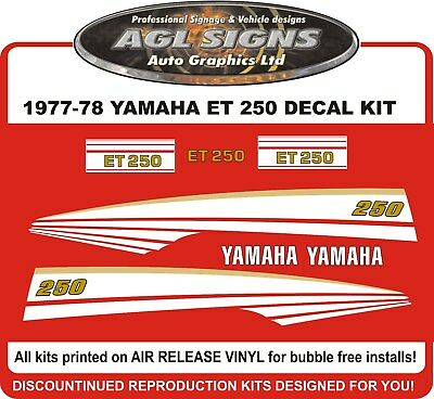 1977 1978 YAMAHA ENTICER  ET 250 SNOWMOBILE DECAL KIT  reproductions graphics