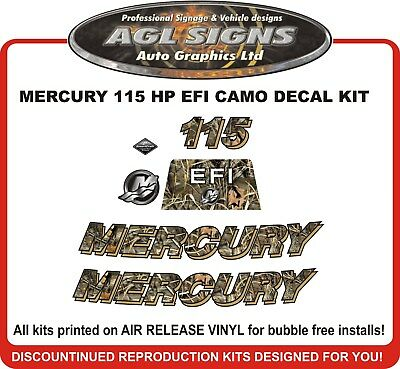 2006 - 2012  MERCURY 115 EFI  Camo Decal Kit   90 125 hp  also avail.
