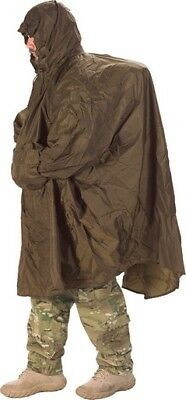 Snugpak SN92295 Patrol Poncho Waterproof Adjustable Hood Coyote Tan