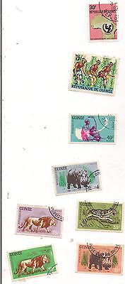 8 GUINEA stamps.