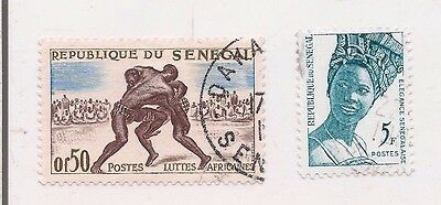 2 SENEGAL stamps.