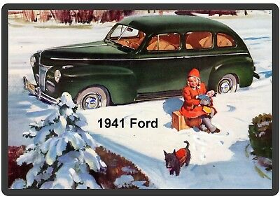 Tool Box Magnet Man Cave Gift Item 1965 Ford Mustang Shelby Auto Refrigerator