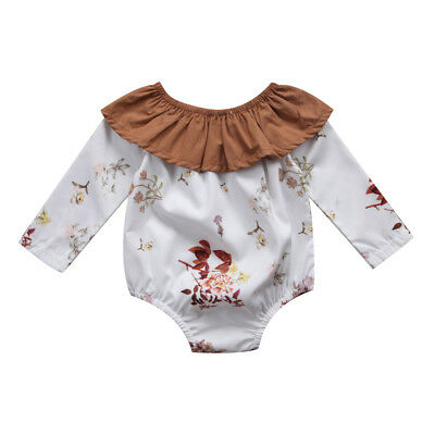 Toddler Newborn Kids Baby Girls Infant Romper Jumpsuit Bodysuit Clothes Outfits