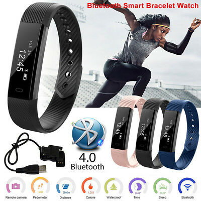 ID115 Heart Rate Smart Bracelet Fitness Tracker Step Counter Activity Monitor