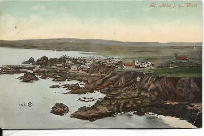 ST ABBS from the West, Berwickshire old postcard