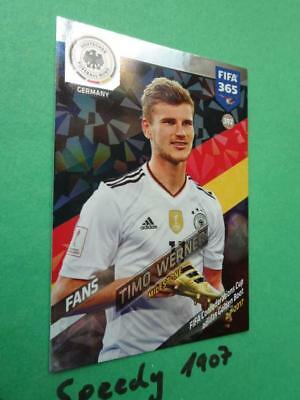 #392 timo Werner-fans Panini Adrenalyn XL fifa 365 2018
