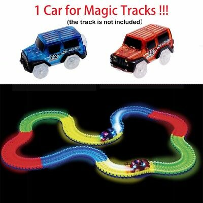 1PCS Car for Magic Tracks Glow in the Dark Amazing Racetrack Light Up Race Car