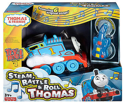 Fisher-Price Thomas the Train Steam Rattle & Roll Thomas - Featuring 6 Songs NEW