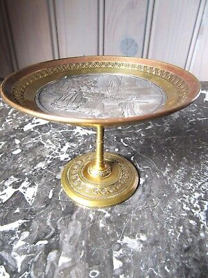 Superb French Antique Bronze Cup Vase Bowl Ring Holder Card Tray Signed