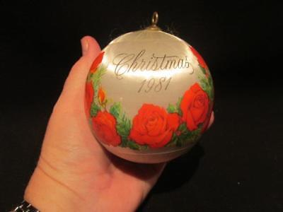 Hallmark 1981 Christmas Plastic Silk Ornament In A Mother's Heart There is Love
