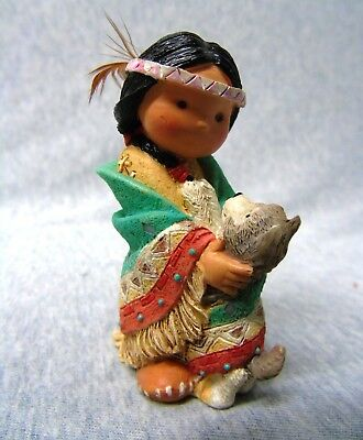 1994 Friends of the Feather ''Dances With Wolf'' Figurine k733