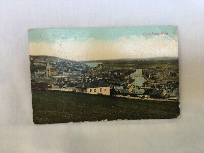 old postcard. Cork From West