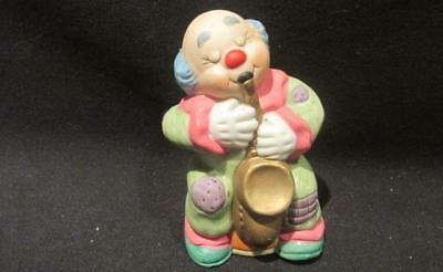 Jasco Taiwan Mid-Century Colorful Bell Clown Playing Saxophone