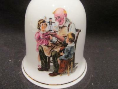 Toymaker 1986 Museum Collection Bell Inspired by Art of Norman Rockwell