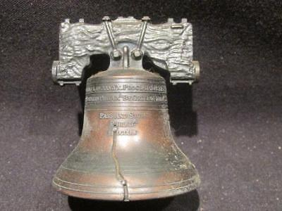 "Liberty Bell 2.25"" Tall Brass Vintage Look Metal Replica Bell with Clapper"