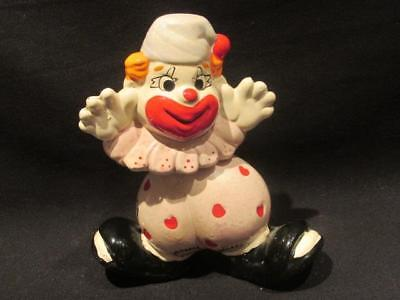 Bobble-Head Clown Coin Bank Patched Heart Pants & Waving Arms