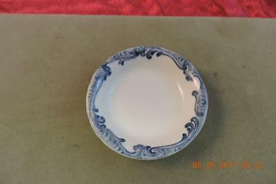 Union Pacific Overland Railroad Dinning Car Harriman Blue China Butter Pat