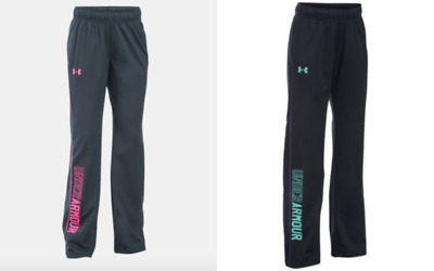 New Under Armour Girls' Rival Training Pants Small, Medium, and Large