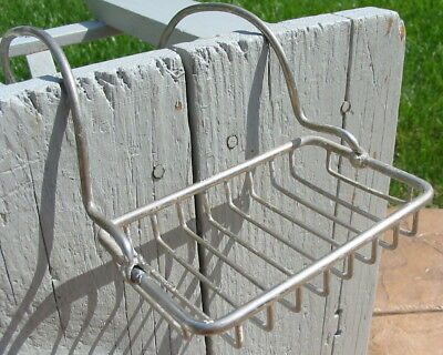 Antique Vtg San-O-La Metal, Soap Holder Clawfoot Bath Tub Victorian Rack Caddy