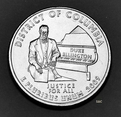 2009 D Mint District Of Columbia Quarter Uncirculated Clad America The Beautiful