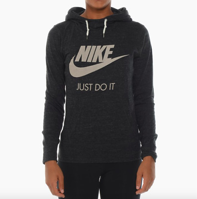 Nwt Nike Gym Vintage Pullover Hoodie Black All Sizes Women's