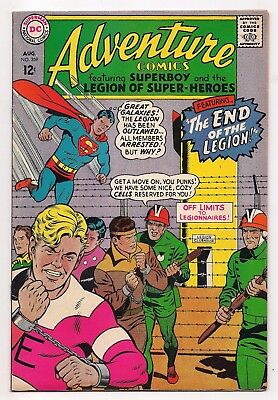Silver Age ADVENTURE COMICS #359 NM SIGNED BY CURT SWAN LSH HIGHER GRADE