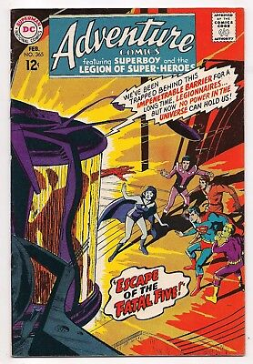 Silver Age ADVENTURE COMICS #365 VF 1ST SHADOW LASS LSH HIGHER GRADE FATAL FIVE